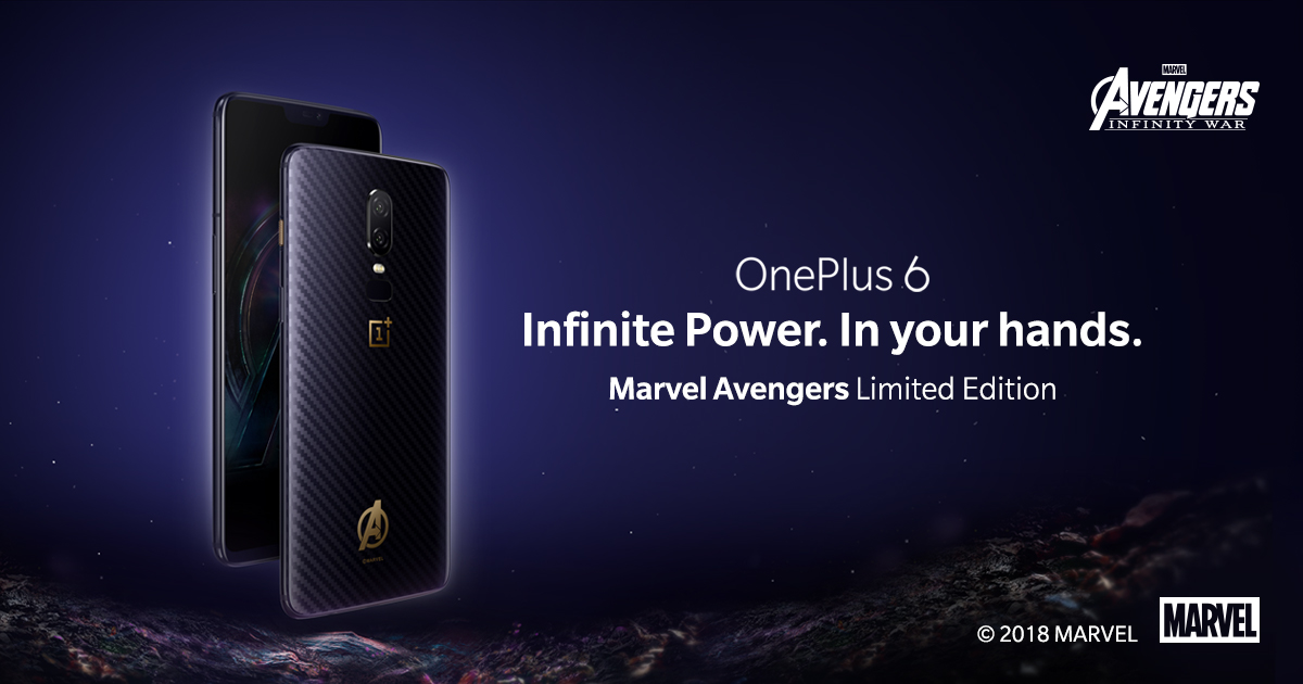 best loved 707d3 93196 OnePlus 6 Marvel Avengers Limited Edition - OnePlus (India)